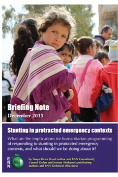 Stunting in protracted emergency contexts: ENN briefing note