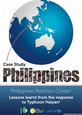 Philippines Nutrition Cluster: Lessons learnt from the response to Typhoon Haiyan
