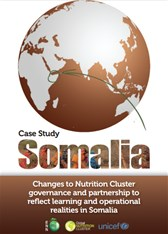Case Study Somalia: Changes to Nutrition Cluster governance and partnership to reflect learning and operational realities in Somalia