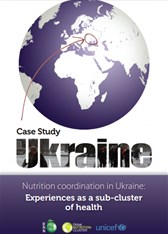 Nutrition coordination in Ukraine: Experiences as a sub-cluster of health