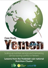 Scaling up nutrition services and maintaining service during conflict in Yemen: Lessons from the Hodeidah sub-national Nutrition Cluster