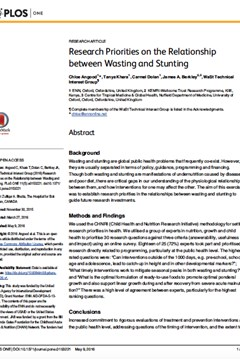 Research Priorities on the Relationship between Wasting and Stunting