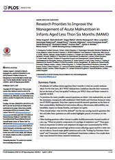 Research Priorities to Improve the Management of Acute Malnutrition in Infants Aged Less Than Six Months (MAMI)