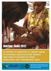 A review of methods to detect cases of severely malnourished infants less than 6 months for their admission into therapeutic care