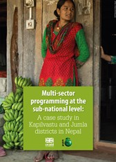 Multi-sector programming at the sub-national level: A case study in Kapilvastu and Jumla districts in Nepal