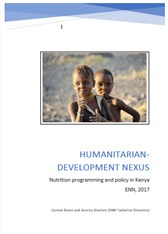 Humanitarian-development nexus: nutrition programming and policy in Kenya