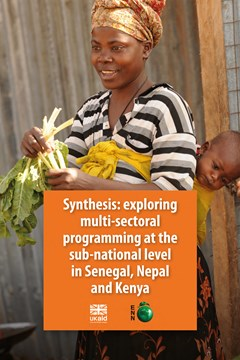 Exploring multi-sector programming at the sub-national level in Senegal, Nepal and Kenya