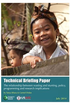 Technical Briefing Paper: The relationship between wasting and stunting: policy, programming and research implications (2014)
