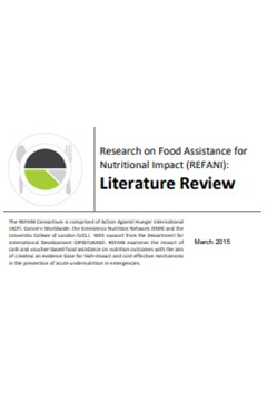Research on Food Assistance for Nutritional Impact (REFANI): Literature Review