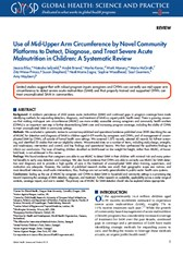 Use of Mid-Upper Arm Circumference by Novel Community Platforms to Detect, Diagnose, and Treat Severe Acute Malnutrition in Children: A Systematic Review