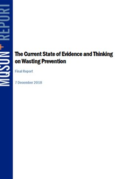 The Current State of Evidence and Thinking on Wasting Prevention
