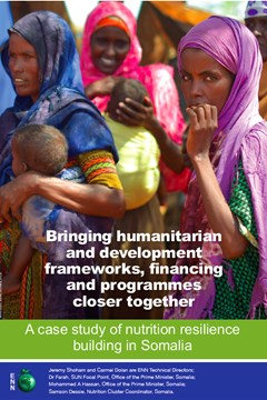 Bringing humanitarian and development frameworks, financing and programmes closer together
