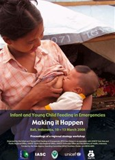 Infant and Young Child Feeding in Emergencies: Making it Happen. Report of a regional workshop on IFE (2008)