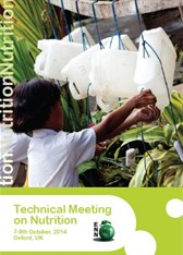 Technical Meeting on Nutrition, 7th-9th October, Oxford, UK