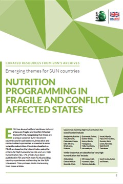 Emerging themes for SUN countries: Nutrition programming in fragile and conflict affected states