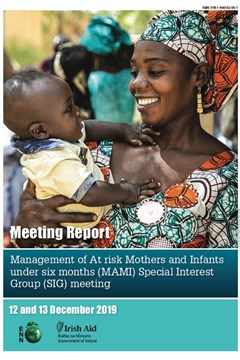 Management of At risk Mothers and Infants under six months (MAMI) Special Interest Group (SIG) meeting. 12 and 13 December 2019.