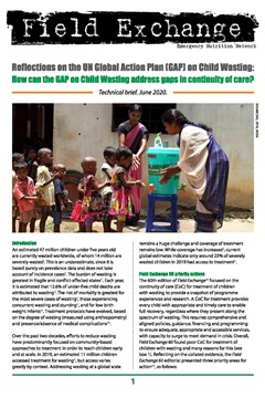 Reflections on the UN Global Action Plan (GAP) on Child Wasting: How can the GAP on Child Wasting address gaps in continuity of care?