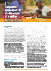 Simplified approaches to the treatment of wasting. Technical Brief.