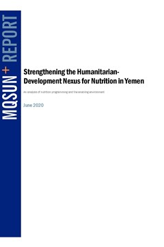 Strengthening the Humanitarian Development Nexus for Nutrition in Yemen