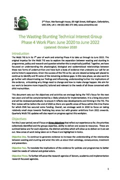 The Wasting -Stunting Technical Interest Group Phase 4 Work Plan: June 2020 to June 2022