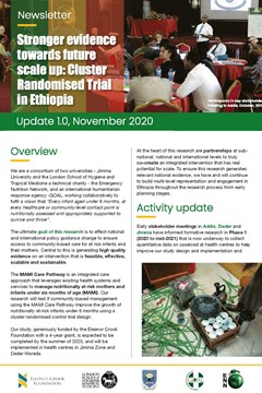Stronger evidence towards future scale up: Cluster Randomised Trial in Ethiopia - Update 1.0, November 2020