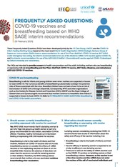 Frequently asked questions: COVID-19 vaccines and breastfeeding based on WHO SAGE interim recommendations