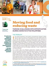 Moving food and reducing waste: Turning challenges into opportunities during COVID-19 in the Philippines