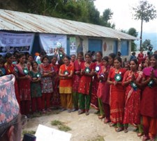 Mothers publically committing to practise food hygiene behaviours in the Nepal food hygiene intervention study.