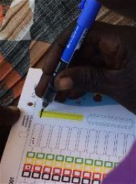 The counterfoil ID system field-tested in South Sudan