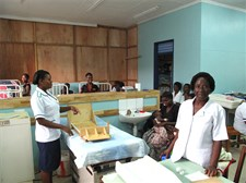 Sr Joyce, the Infant Feeding Support Nurse, in the Nursery Ward