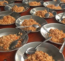 Meals prepared for the school feeding programme