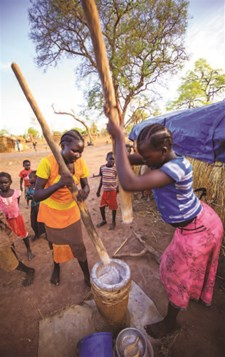 Impact of milling vouchers on household food security in South Sudan