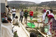 Cooking demonstration as a part of IYCF session by Health Extension Worker, Tigray region