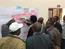 Problem and solution tree exercises  at a capacity needs assessment  workshop in Ethiopia