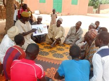 Husbands' School nutrition education session in the village of Toudoun Baouchi, Niger