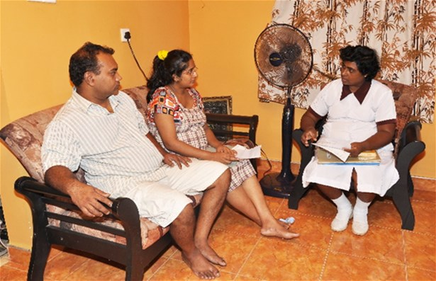 As part of antenatal care, midwives make home visits in Sri Lanka