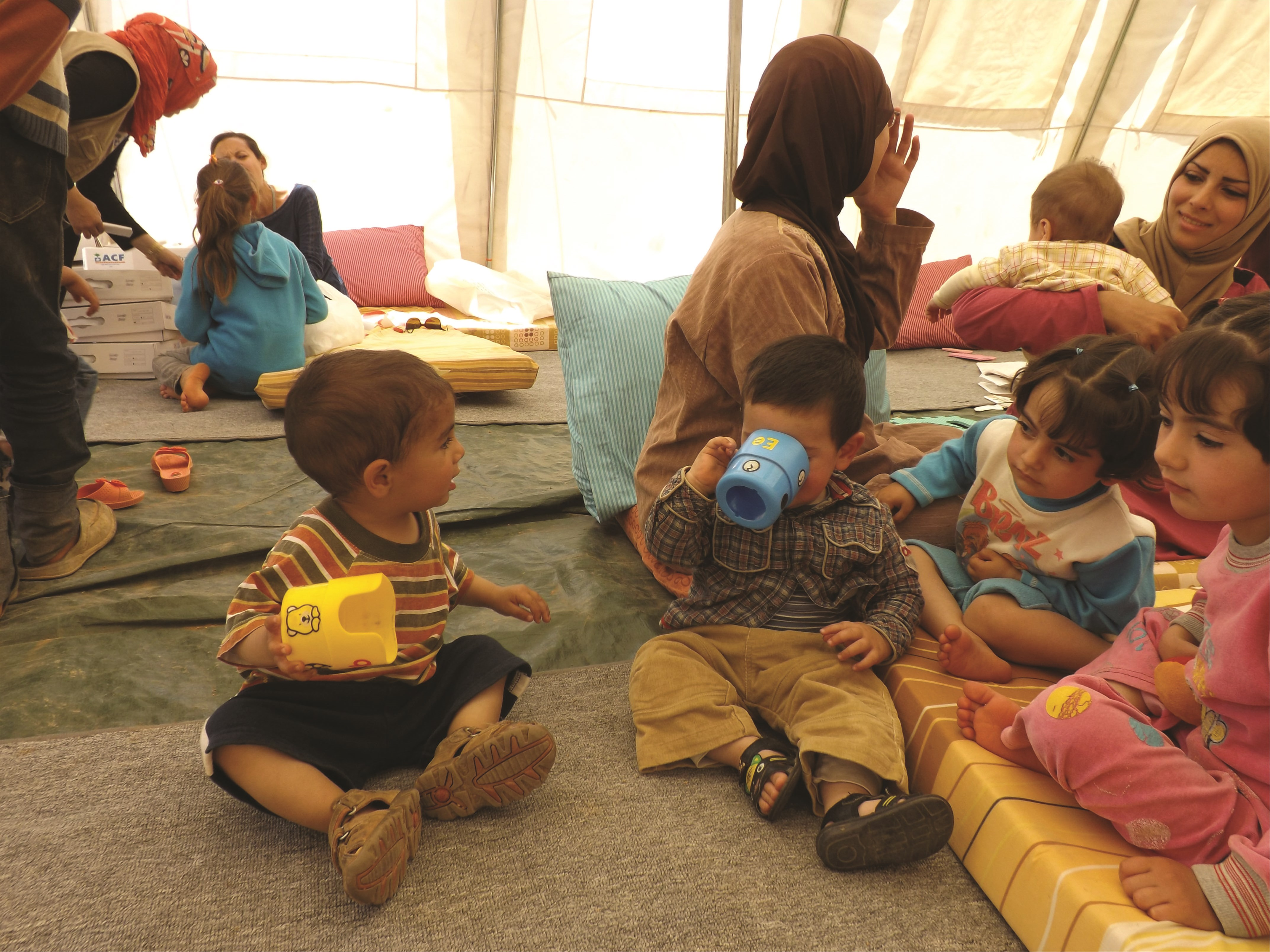 Syrian children enrolled in the ACF 'Safe Haven' Project in Lebanon