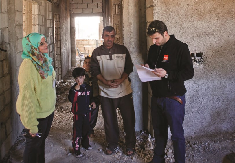 NRC Jordan engineering team assessing unfinished housing units in northern Jordan