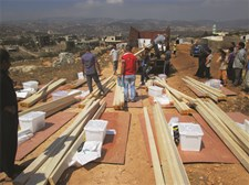 Shelter kits being distributed to an Informal Settlement in Akkar District, North Lebanon