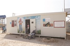 One of the IYCF caravans in Zaatari camp