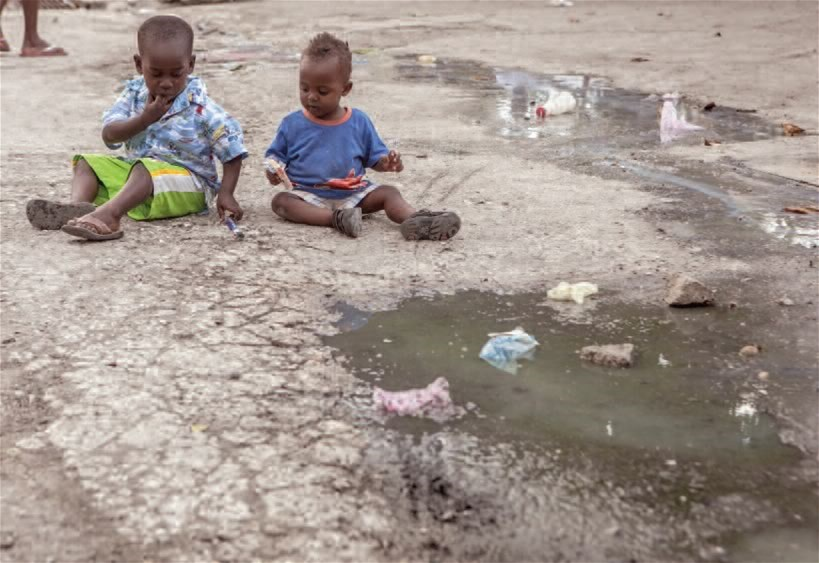 Environmental factors are associated with both wasting and stunting