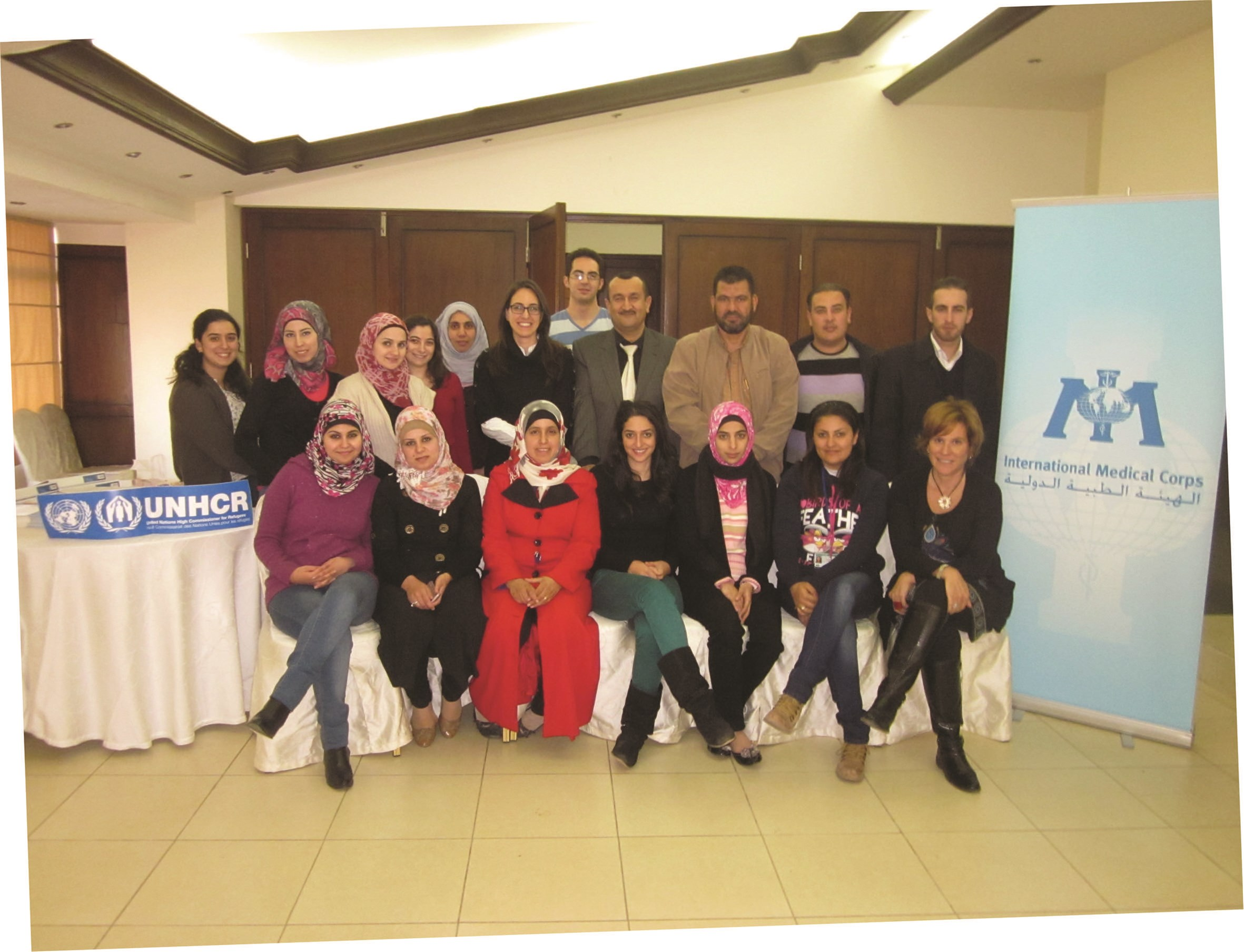 Participants in the NIE training in Jordan in 2012