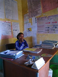 A health extension worker in Ethiopia