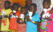 A 3 day supply of RUTF is provided to five underweight children