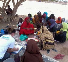 Women in a focus group discussion during Nutrition Causal Analysis data collection